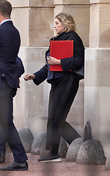 © Licensed to London News Pictures. 10/09/2020. London, UK. Paymaster General Penny Mordaunt leaves Lancaster House in central London. Also seen leaving were European Chief Brexit negotiator Michel Barnier, European Commission Vice President Maros Sefcovic, Cabinet Minister Michael Gove and UK Chief Brexit negotiator Lord Frost. A second day of negotiations between the UK Government and the EU has now started at the Business Department in Victoria Street. Photo credit: Peter Macdiarmid/LNP