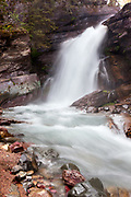 Baring Falls in Glacier National Park, Montana.