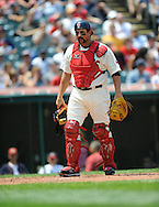 Catcher Sal Fasano of Cleveland..The Minnesota Twins defeated the Cleveland Indians 4-2 on Sunday, July 27, 2008 at Progressive Field in Cleveland.