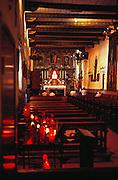 Inside the church at Mission San Juan Capistrano. San Juan Capistrano, California, USA.