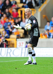 Leicester City's Kasper Schmeichel - Photo mandatory by-line: Joe Meredith/Josephmeredith.com  - Tel: Mobile:07966 386802 16/09/2012 - Wolves v Leicester City - SPORT - FOOTBALL - Championship -  Wolverhampton  -  Molineux Stadium  -