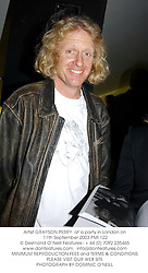 Artist GRAYSON PERRY  at a party in London on 11th September 2003.PMI 122