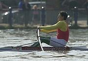 Putney to Mortlake, Thames World Sculling Challenge<br /> <br /> Photo Peter Spurrier<br /> 29/03/2002<br /> 2002 Thames World Sculling Challenge<br /> Akos Haller HUN