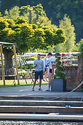 Henley-On-Thames, Berkshire, UK 3rd August 2020 Athletes, Crews boating from Leander Club for training,  [ Mandatory Credit © Peter Spurrier/Intersport Images], , Training during, the  coronavirus (COVID-19), pandemic,
