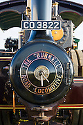 Charles Burrell road locomotive steam engine, Lord Nelson, in country show in Great Barrington, Gloucestershire