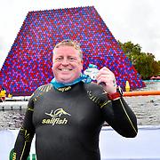 Ian Sainsbury is his second time Six Miles Swim Serpentine 2018, London, UK. 22 September 2018.