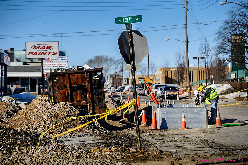 Gas explosion at 13th and Allen Streets, Allentown, Pa. which happened on the night of February 9, 2011. Scene at 13th and Allen.   ////            DONNA FISHER/THE MORNING CALL     ALLENTOWN