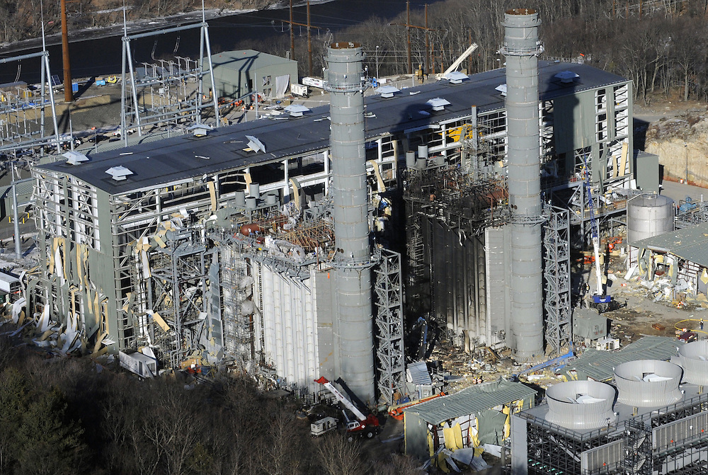 The Kleen Energy plant is seen in this aerial photo after an explosion in Middletown, Conn. <br /> The plant had been under construction when the blast killed six and injured at least fifty people. (AP Photo/Jessica Hill)