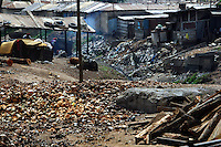 GHANA,Accra,Kokomlemle, 2007. Small industry often co-exists with housing in Accra's loose city zoning, allowing toxic conditions to continue.