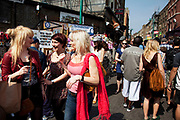 Brick Lane Market scenes along this most famous of East End markets in London. Brick Lane Market is a London market centred around Brick Lane, Tower Hamlets. It is located at the northern end of Brick Lane and along Cheshire Street in east London. It operates every Sunday from around 8am to 2pm.