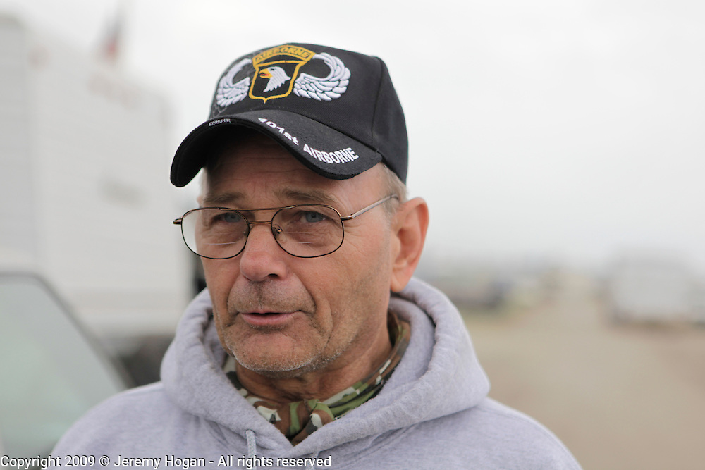 A Veteran of the 101st Airborne. Vietnam Veterans gather in Kokomo, Indiana for the 2009 reunion.