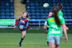 Robyn Wilkins of Worcester Warriors Women kicks to touch - Mandatory by-line: Nick Browning/JMP - 20/12/2020 - RUGBY - Sixways Stadium - Worcester, England - Worcester Warriors Women v Harlequins Women - Allianz Premier 15s