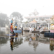 Grand Bassin Lake or Ganga Talao, the most scared Hindu Site in Mauritius. Over 70% of Mauritians practice Hinduism and this lake is the site of a major pilgrimage each year. People visit the lake to make offerings each day and tourists are welcome to visit.