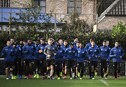 December 10, 2018 - Bruges, Belgique - BRUGGE, DECEMBER 10 : illustration picture of football team with Ruud Vormer midfielder of Club Brugge and teammates pictured during practice session the day before the UEFA Champions League group A match between Club Brugge KV and Atletico Madrid on December 10, 2018 in Brugge, 10/12/2018 (Credit Image: © Panoramic via ZUMA Press)