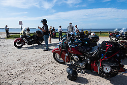 After the finish of the Cross Country Chase motorcycle endurance run from Sault Sainte Marie, MI to Key West, FL. (for vintage bikes from 1930-1948). 287 mile ride of Stage-8 from Tallahassee to Lakeland, FL USA. Friday, September 13, 2019. Photography ©2019 Michael Lichter.