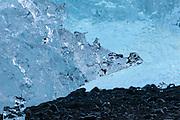 Detail of a stranded iceberg, Jökulsárlón, Iceland