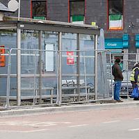 Work progressing on the bus shelter in Kinsale.<br /> Picture. John Allen
