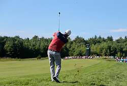 September 1, 2018 - Norton, Massachusetts, United States - Marc Leishman hits out of the rough on the 11th hole during the second round of the Dell Technologies Championship. (Credit Image: © Debby Wong/ZUMA Wire)