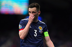 Scotland's Andrew Robertson during the UEFA Euro 2020 Group D match at Hampden Park, Glasgow. Picture date: Monday June 14, 2021.