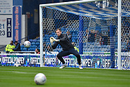 Wycombe Wanderers Goalkeeper, Ryan Allsop (1) warming up during the EFL Sky Bet League 1 match between Portsmouth and Wycombe Wanderers at Fratton Park, Portsmouth, England on 22 September 2018.