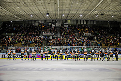 26.10.2015, Eisstadion Liebenau, Graz, AUT, EBEL, Moser Medical Graz 99ers vs HC TWK Innsbruck, 16. Runde, im Bild von links: Rupert Strohmeier (EC Graz 99ers), Matt Fornataro (EC Graz 99ers), Philip DeSimone (EC Graz 99ers), Zintis Zusevics (EC Graz 99ers), Mario Petrovitz (EC Graz 99ers), Clemens Unterweger (EC Graz 99ers), Morten H. Poulsen (EC Graz 99ers), Evan Brophey (EC Graz 99ers), Daniel Woger (EC Graz 99ers), Philipp Pinter (EC Graz 99ers), Markus Pirmann (EC Graz 99ers), Sabahudin Kovacevic (EC Graz 99ers), Corin Konradsheim (EC Graz 99ers), Jonas Almtorp (EC Graz 99ers), Daniel Natter (EC Graz 99ers), Mike Marcou (EC Graz 99ers), Thomas Höneckl (EC Graz 99ers), Kevin Mitchell (EC Graz 99ers), Sebastian Dahm (EC Graz 99ers) und das Maskottchen Pucki // during the Erste Bank Icehockey League 16th Round match between Moser Medical Graz 99ers and HC TWK Innsbruck at the Ice Stadium Liebenau, Graz, Austria on 2015/10/26, EXPA Pictures © 2015, PhotoCredit: EXPA/ Erwin Scheriau