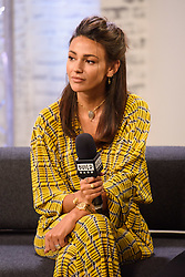 Michelle Keegan at BUILD for a live discussion at AOL's Capper Street Studio in London.