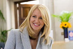 "© Licensed to London News Pictures. 10/06/2019. London, UK.  Tory leadership candidate, Esther McVey arrives to make a pro Brexit speech about ""Taking Back Control of Britain's EU Exit"" at a Bruges Group event held in Westminster. Many of the Tory leadership candidates are holding launch events in the capital today. Photo credit: Vickie Flores/LNP"