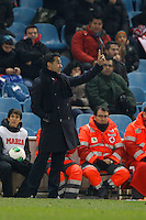 12.12.2012 SPAIN - Copa del Rey 12/13 Matchday 8th  match played between Atletico de Madrid vs Getafe C.F. (3-0) at Vicente Calderon stadium. The picture show Luis Garcia Plaza coach of Getafe C.F.