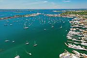 Newport, Downtown, Harbor, Rhode Island, USA