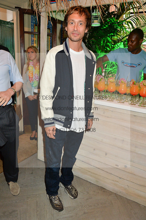 VISCOUNT MACMILLAN at the launch of the new collection from Limoland held at Anderson & Sheppard's Haberdashery, 17 Clifford Street,London on 16th June 2014.