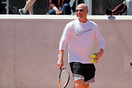 Andre Kirk Agassi (USA) new trainer of Novak Djokovic (SRB) at practice on court 5 during the Roland Garros French Tennis Open 2017, preview, on May ......, 2017, at the Roland Garros Stadium in Paris, France - Photo Stephane Allaman / ProSportsImages / DPPI