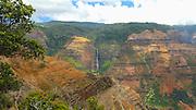 Pan, Waimea Canyon, State Park,Kauai, Waipoo Falls,  Hawaii