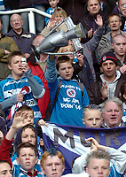 Photo: Kevin Poolman.<br /> Reading v Queens Park Rangers. Coca Cola Championship. 30/04/2006. Reading fans with their own Trophy.