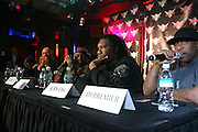Common, Just Blaze, KRS-ONE and DJ Premier at The Smirnoff Press Conference announcing Music Series held at Element on February 26, 2008