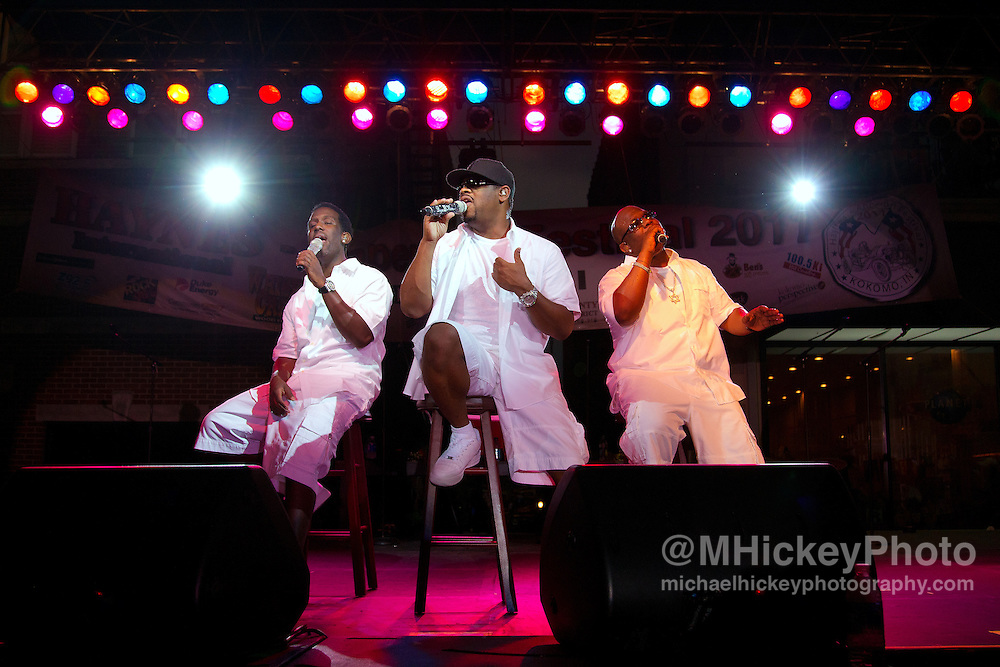 Boyz II Men perform in concert at the Haynes-Apperson Festival in Kokomo, Indiana on July 2, 2011.