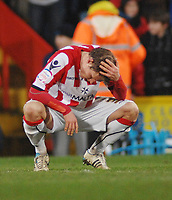 Football - Championship - Crystal Palace vs. Sheffield United 19/02/2010 Sheffield United's Bjorn Helge Riise shows his disappointment at the final whistle.Credit : Colorsport / Andrew Cowie