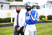 Jockey Jim Crowley - Mandatory by-line: Robbie Stephenson/JMP - 22/07/2020 - HORSE RACING - Bath Racecoure - Bath, England - Bath Races