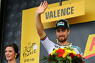 Peter Sagan (SVK - Bora - Hansgrohe) podium during the 105th Tour de France 2018, Stage 13, Bourg d'Oisans - Valence (169,5 km) on July 20th, 2018 - Photo Luca Bettini / BettiniPhoto / ProSportsImages / DPPI