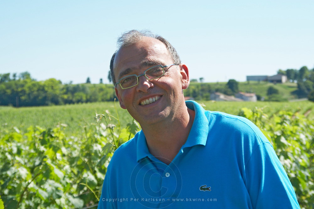 Thierry gaudrie owner chateau villars fronsac bordeaux france