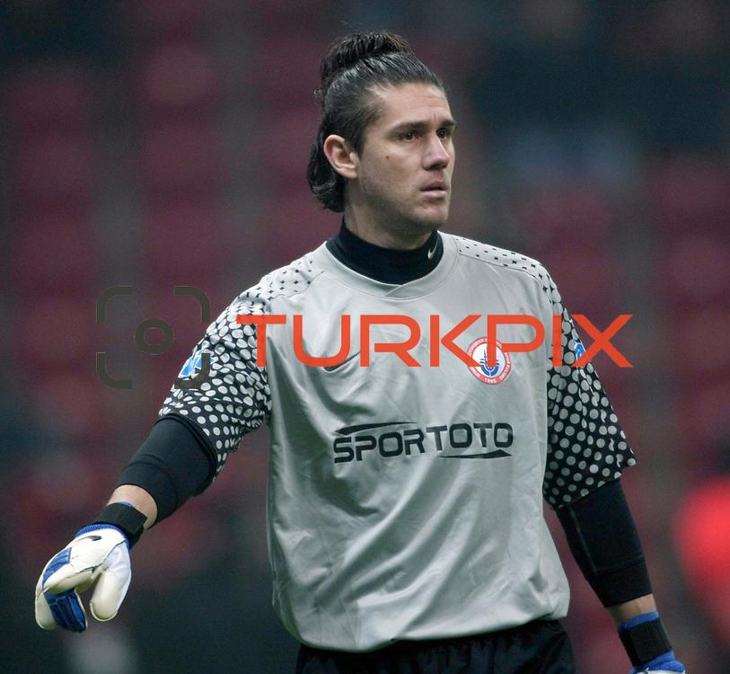 IBBSpor's goalkeeper Kenan Hasagic during their Turkish Super League soccer match Galatasaray between IBBSpor at the TT Arena at Seyrantepe in Istanbul Turkey on Tuesday, 03 January 2012. Photo by TURKPIX