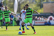 Forest Green Rovers Liam Noble(15) on the ball during the Vanarama National League Play Off second leg match between Forest Green Rovers and Dagenham and Redbridge at the New Lawn, Forest Green, United Kingdom on 7 May 2017. Photo by Shane Healey.