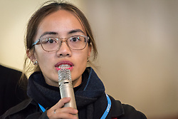 1 December 2019, Madrid, Spain: Lutheran World Federation delegate Stephanie Joy Abnasan from the Lutheran Church in Philippines summarizes key discussion points, as representatives of various faiths gather in the Iglesia de Jesús (Church of Christ) of the Iglesia Evangélica Española (Evangelical Church of Spain) for an interfaith dialogue and prayer service on the eve of the United Nations climate conference (COP25) in Madrid, Spain.