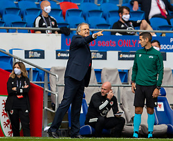 CARDIFF, WALES - Sunday, September 6, 2020: Bulgaria's head coach Georgi Dermendzhiev during the UEFA Nations League Group Stage League B Group 4 match between Wales and Bulgaria at the Cardiff City Stadium. (Pic by David Rawcliffe/Propaganda)