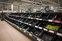 Shelves at Sainsburys Southampton  have been emptied again as people continue to stockpile food and cleaning supplys during the coronavirus outbreak photo Michael Pamler