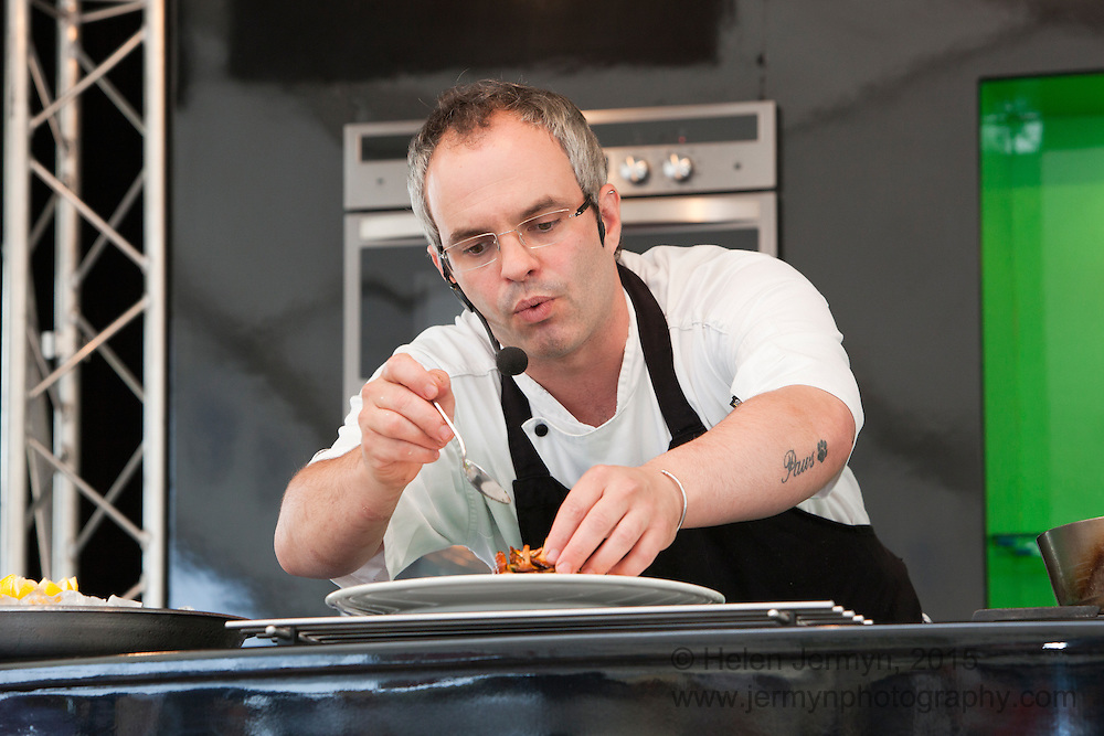 Cookery demonstration, Aldeburgh Food Festival