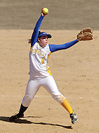 Middletown, NY - Gloucester County College pitcher Erika Knorr winds up during a women's softball game against SUNY Orange on March 29, 2008.