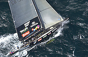Things start to go wrong for Team New Zealand as NZL82 takes on water early into leg one of the first race of the America's Cup 2003. 15/2/2003 (© Chris Cameron 2003)