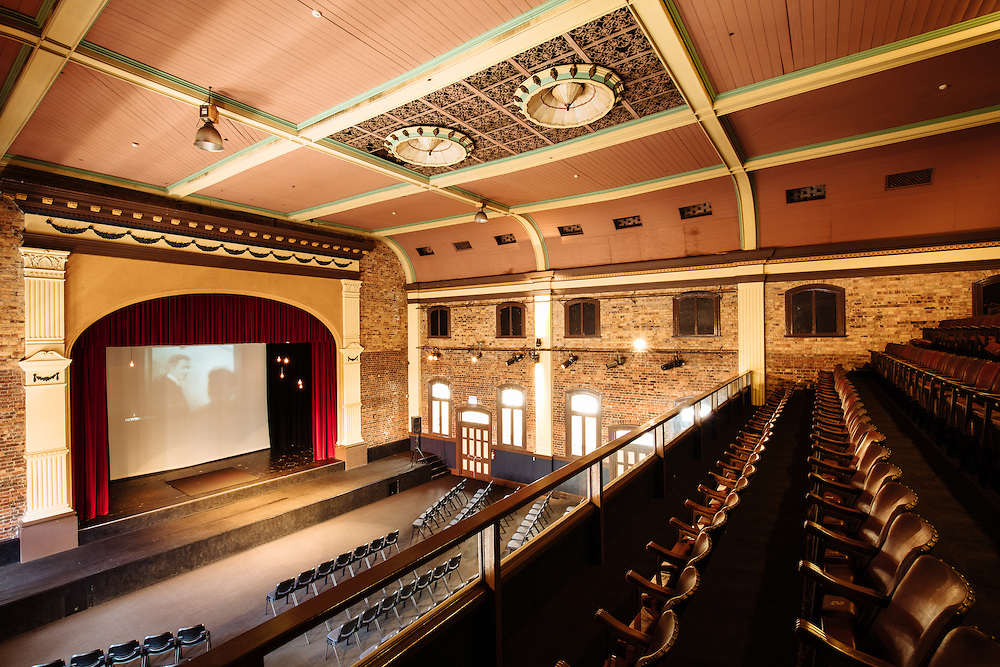 Interior of the heritage listed Princess Theatre in Brisbane built in 1888. Showing the original bleacher style seating on the upper level.