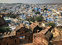 JODHPUR, INDIA - CIRCA NOVEMBER 2016:  Panoramic view of Jodhpur from the Mehrangarh Fort