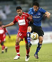 Fotball<br /> Bundesliga <br /> 10.01.2007<br /> Foto: Witters/Digitalsport<br /> NORWAY ONLY<br /> <br /> v.l. Saleh Obaid, Paolo Guerrero HSV<br /> Fussball Dubai Challenge 2007 Hamburger SV - Vereinigte Arabische Emirate (UAE) / Forenede Arabiske Emirater